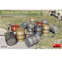 Miniart 35597 - 1:35 German 200L Fuel Drum Set WW2