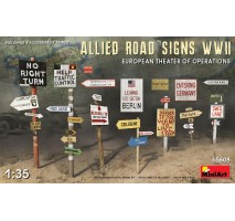 Miniart 35608 - 1:35 Allied Road SignsWWII. European Theatre of Oper.