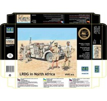 Masterbox 3598 - 1:35 LRDG in North Africa, WWII era - 5 figures