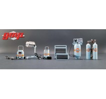 GMP-18872 - 1:18 Shop Tool Set #1 - Gulf Oil
