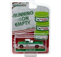 GreenLight 41070-B - 1962 Dodge D-100 - Turtle Wax Solid Pack - Running on Empty Series 7