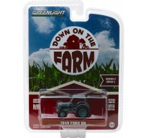 GreenLight 48020-B - 1949 Ford 8N Tractor - Grey with Cab Solid Pack - Down on the Farm Series 2