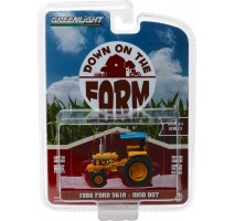 GreenLight 48020-D - 1986 Ford 5610 Tractor - Yellow and Blue Ohio Department of Transportation (DOT) Solid Pack - Down on the Farm Series 2