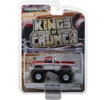 GreenLight 49010-E - 1979 Ford F-250 Monster Truck - Maroon with White Stripes Solid Pack - Kings of Crunch Series 1