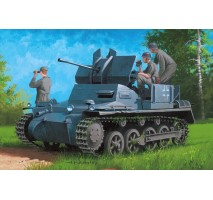 HobbyBoss 80147 - 1:35  German Flakpanzer IA w/Ammo.Trailer