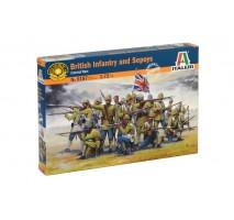 Italeri 6187 - 1:72 BRITISH COLONIAL INF. w/SEPOYS - 50 figures