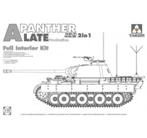 TAKOM 2099 - 1:35 WWII German medium Tank  Sd.Kfz.171/267 Panther A late production w/ full interior kit 2 in 1