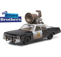 "GreenLight 86423 - Blues Brothers (1980) - 1974 Dodge Monaco ""Bluesmobile"" with Horn on Roof - Hollywood"