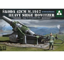 TAKOM 2018 - 1:35 Skoda 42 cm M.1917 Heavy Siege Howitzer with Erich von Manstein