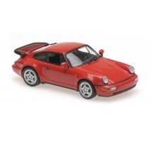 Minichamps - PORSCHE 911 TURBO (964) - 1990 – RED – MAXICHAMPS