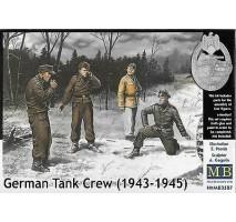 Masterbox 3507 - 1:35 German tank crew (1943-1945) Kit No.1 - 4 figures