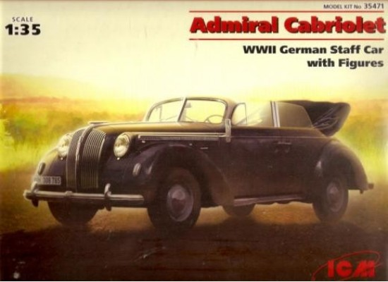 ICM 35471 - 1:35 Opel Admiral Cabriolet WWII German Staff Car with Figures