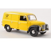 IST  - 1:43 IFA FRAMO V901/2 KASTENWAGEN (VAN) 1954 Deutsche Post (yellow and Black)