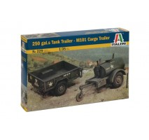 Italeri 0229 - 1:35 Tank 250Gals and Cargo M101 Trailers