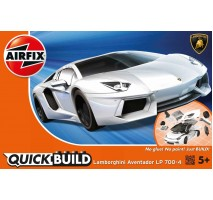 Airfix J6019 - QUICKBUILD Lamborghini Aventador - White - Snap Fit