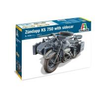Italeri 7406 - 1:9 ZUNDAPP KS 750 with Side Car