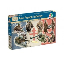 Italeri 6189 - 1:72 WWII: FREE FRENCH INFANTRY - 49 figures