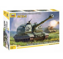 Zvezda 5045 - 1:72 MSTA-S SELF-PROPELLED HOWITZER - SNAP-FIT