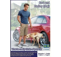 Masterbox 24049 - 1:24 Bart and Radley (dog). What he really thinks of your car.