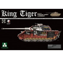 TAKOM 2046S - 1:35 WWII German Heavy Tank Sd.Kfz.182 King Tiger Porsche Turret w/Zimmerit and interior