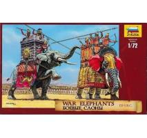 Zvezda 8011 - 1:72 War elephants III-I B.C. - 7 human, 2 elephant figures