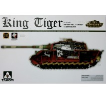 TAKOM 2045S - 1:35 WWII German Heavy Tank Sd.Kfz.182 King Tiger Henschel Turret w/Zimmerit and interior