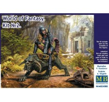 Masterbox 24008 - 1:24 World of Fantasy. Graggeron & Halseya Kit No. 2 - 2 figures