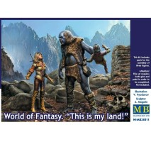 Masterbox 24011 - 1:24 World of Fantasy. This is my land! - 3 figures