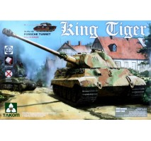 TAKOM 2074S - 1:35 WWII German Heavy Tank Sd.Kfz.182 King Tiger Porsche Turret w/interior [without Zimmerit]