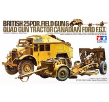 TAMIYA 35044 - 1:35 British 25 PDR. Gun & Quad Tractor - 1 figure