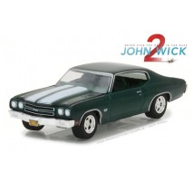 GreenLight 44780-F - Hollywood Series 18 - John Wick: Chapter 2 (2017) - 1970 Chevrolet Chevelle SS 396 Solid Pack