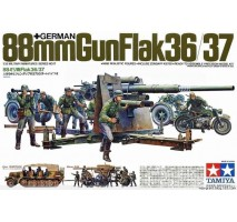 Tamiya 35017 - 1:35 German 88mm Gun Flak 36/37 - 10 figures