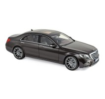 NOREV 183483 - 1:18 Mercedes-Benz S-Class AMG-Line 2018 - Ruby Black metallic