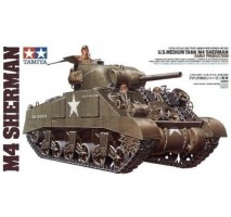 TAMIYA 35190 - 1:35 U.S. Medium Tank M4 Sherman - Early Production - 3 figures