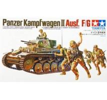 TAMIYA 35009 - 1:35 German Panzerkampfwagen II Ausf. F/G - 5 figures