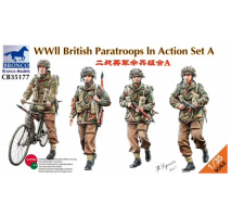 Bronco Models CB35177 - 1:35 WWII British Paratroops In Action Set A