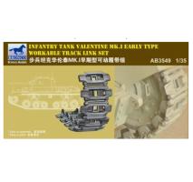Bronco Models AB3549 - 1:35 Infantry Tank Valentine Mk. I (Early Type) Workable Track Link S