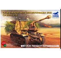 Bronco Models CB35004 - 1:35 7.5cm Pak40(Sf) auf Geschutzwagen 39H(f)