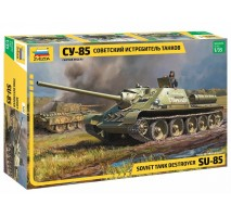 Zvezda 3690 - 1:35 SU-85 SELF PROPELLED GUN