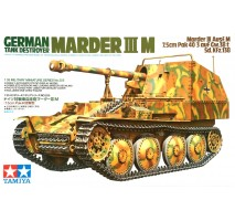 Tamiya 35255 - 1:35 German Marder III M - 1 figure