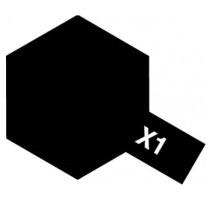 TAMIYA 81001 - X-1 Black - Acrylic Paint (Gloss) 23 ml