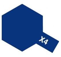 TAMIYA 81004 - X-4 Blue - Acrylic Paint (Gloss) 23 ml