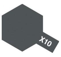 TAMIYA 81010 - X-10 Gun Metal - Acrylic Paint (Gloss) 23 ml