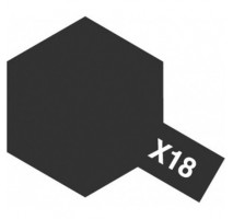 TAMIYA 81018 - X-18 Semi Gloss Black - Acrylic Paint (Gloss) 23 ml