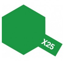 TAMIYA 81025 - X-25 Clear Green - Acrylic Paint (Gloss) 23 ml