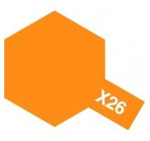 TAMIYA 81026 - X-26 Clear Orange - Acrylic Paint (Gloss) 23 ml