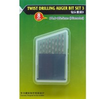MasterTools 09956 - Twist Drilling Auger Bit set (#3 1.8-2.5 mm)
