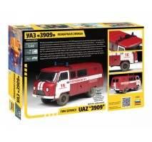 Zvezda 43001 - 1:43 UAZ 3909 FIREFIGHTER CAR