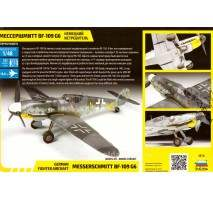 Zvezda - Macheta avion german Messerschmitt Bf-109 G6 1:48