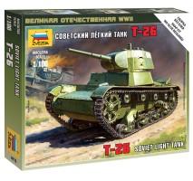 Zvezda 6113 - Soviet T-26 1:100